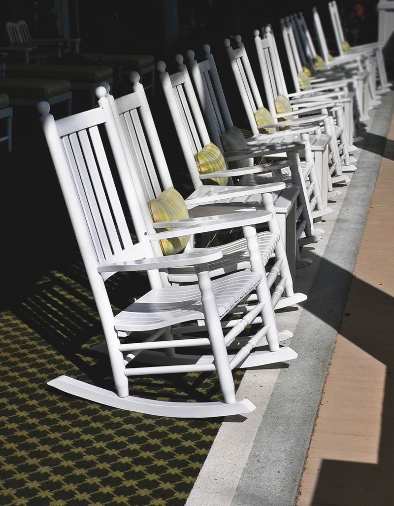 Enjoyable The Lucubrators Rocking Chairs At The Homestead Resort Ibusinesslaw Wood Chair Design Ideas Ibusinesslaworg