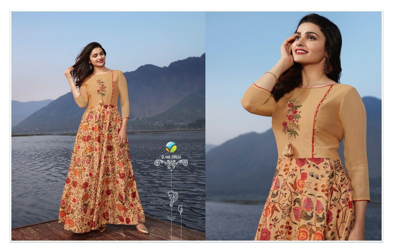 384016d36b Vinay Tumbaa Superstar Prachi Desai Kurti Wholesale Catalog 9 Pcs ...