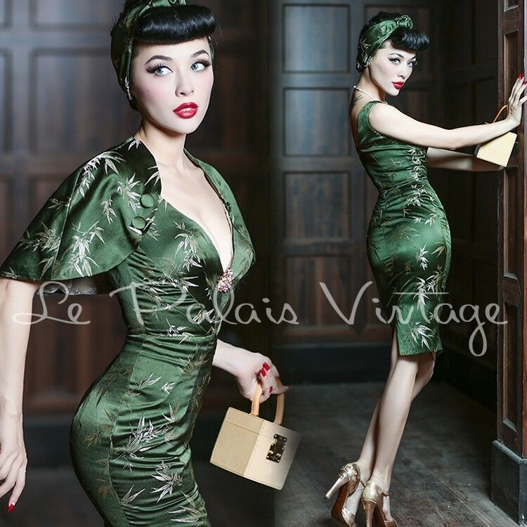 Le Palais Vintage Elegant Retro Bamboo Dress 3 Pieces Set - Designed by Winny in Clothing, Shoes & Accessories | eBay