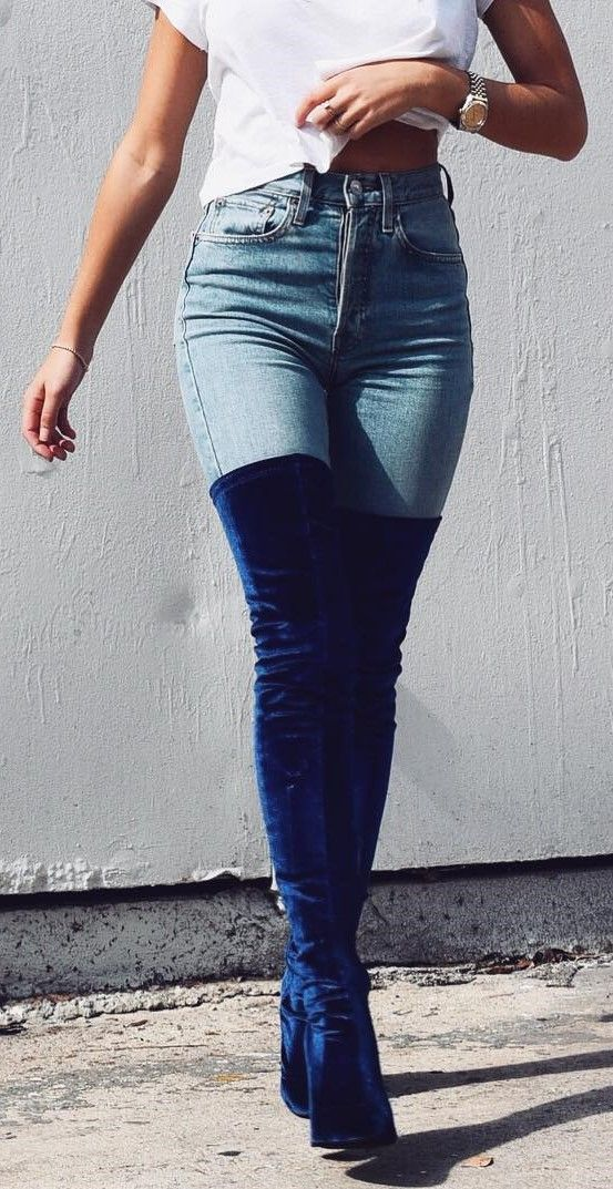 Velvet boots outfit