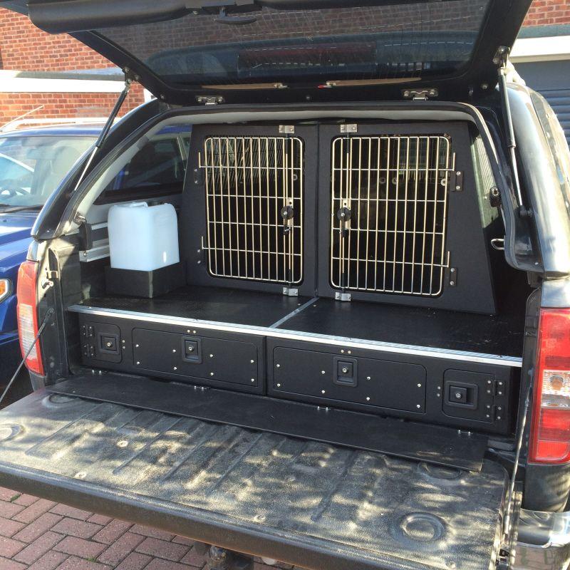 Dog Van Conversions Manufacturers Of Dog Transit Boxes Vehicle Drawer Units Pick Up Systems Dog Van Conversions Nissan Navara The Unit Falconry Equipment
