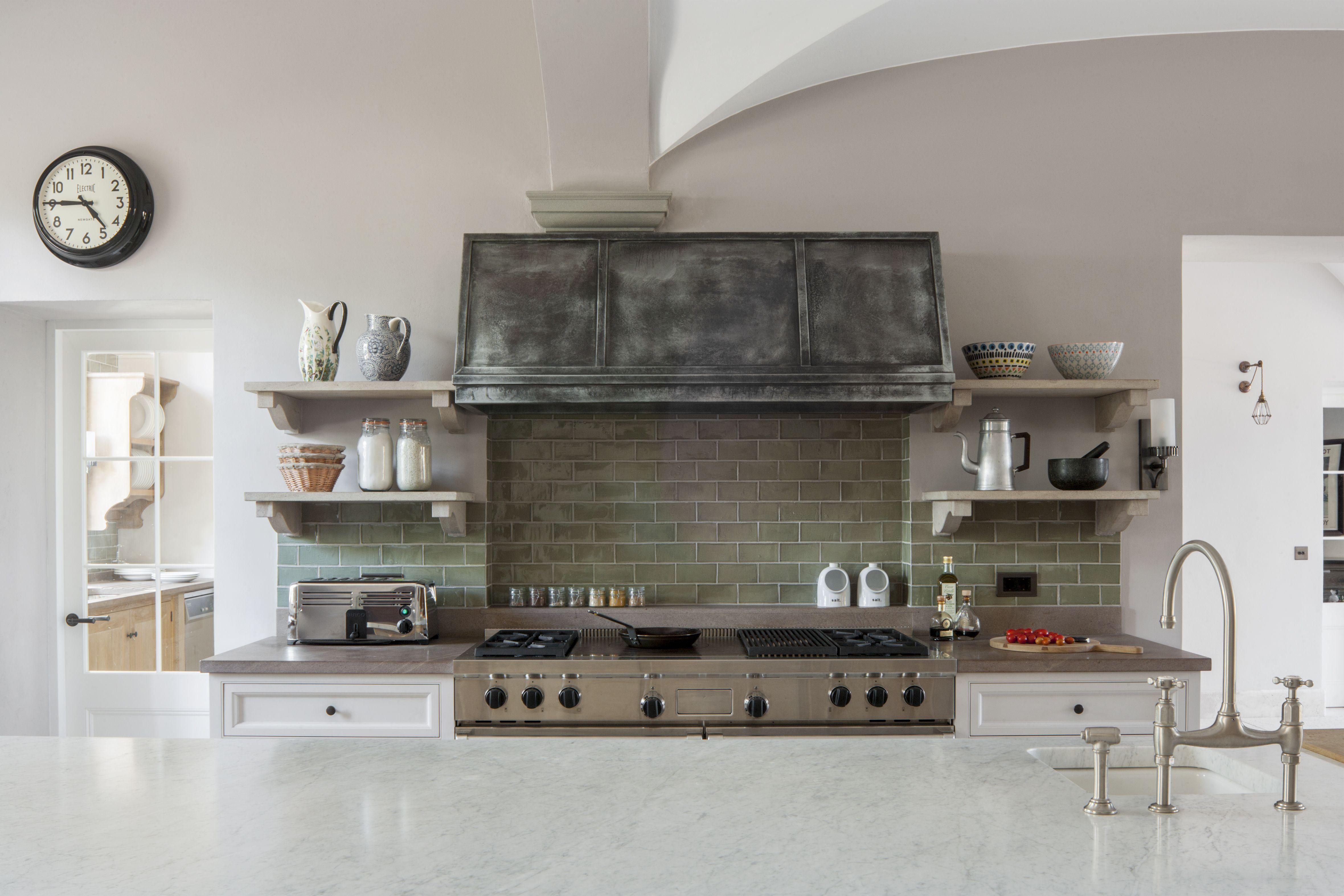 Extractor Cocina S&p   Zinc Extractor Hood In Bespoke Kitchen Designed By Artichoke