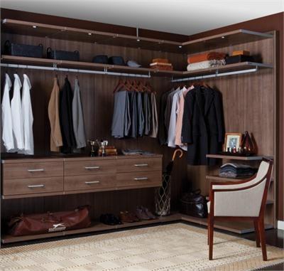 European style closet systems virtuoso closet in roman walnut from california closets