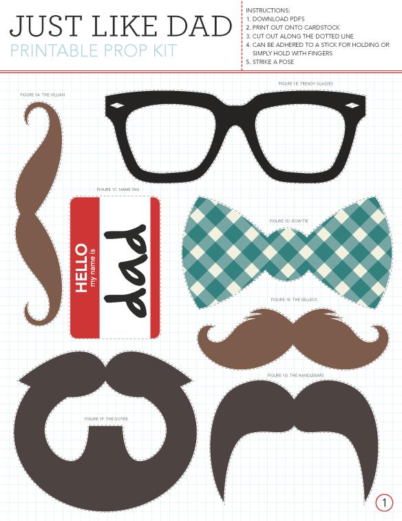 Imprimibles gratis: mostachos, anteojos, corbatas y mucho más ...