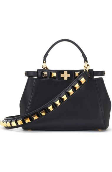 3070d2222a FENDI Mini Peekaboo Studded Leather Bag. #fendi #bags #shoulder bags #hand  bags #leather #crossbody #