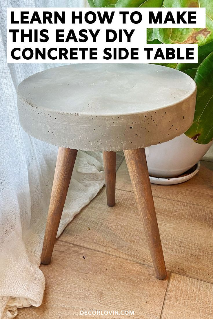 Photo of DIY Concrete Side Table