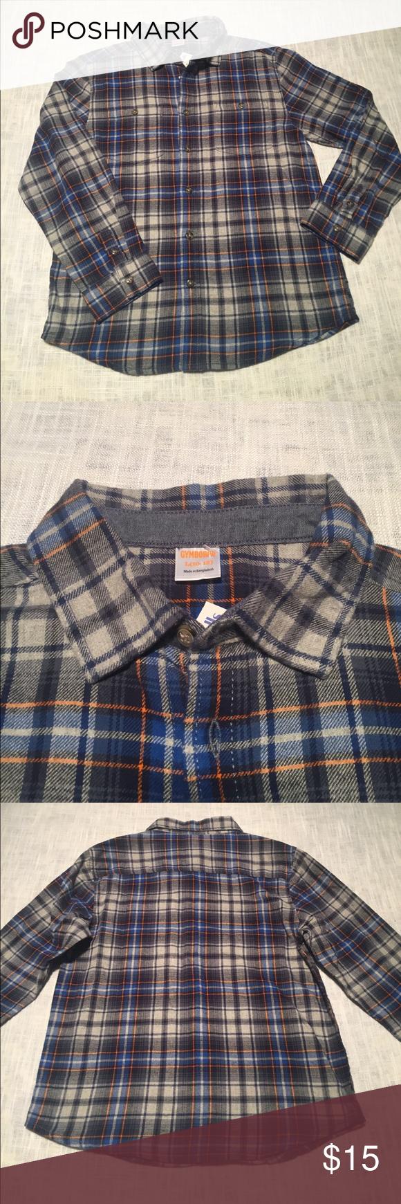 Flannel shirt black and grey  NWT Gymboree flannel shirt NWT  Gymboree Flannel shirts and Plaid