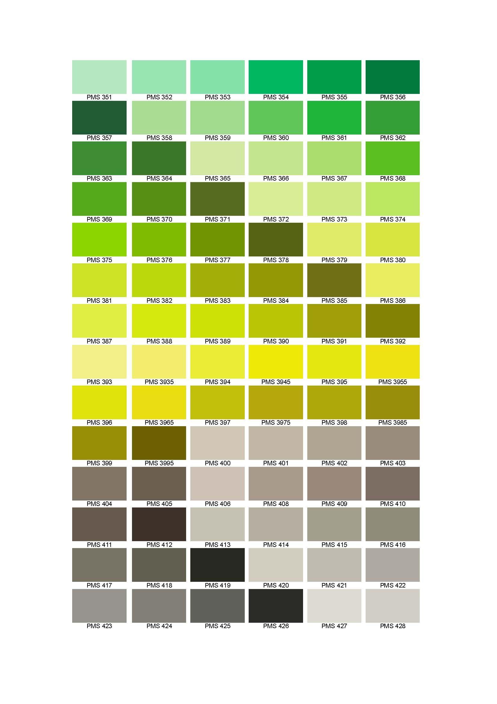 Pantone Colour Chart - Cable and wire information forum | Colour ...
