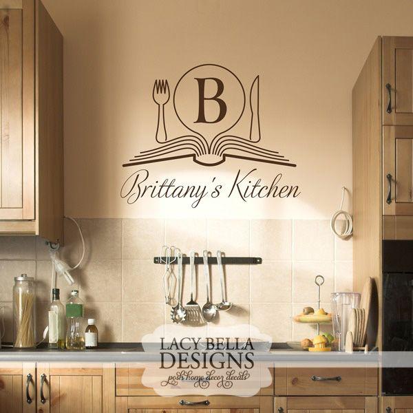 www.lacybella.com Personalized Kitchen Monogram vinyl wall ...