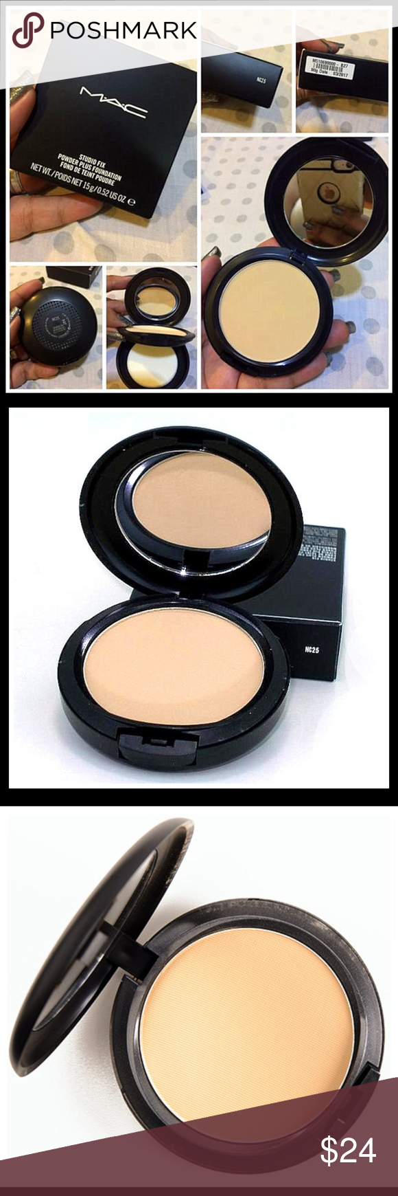 Mac Studio Fix Powder Plus Foundation Nc25 Boutique My Posh Closet This Is A One Step And That Provides Matte Texture With Medium To Full Coverage