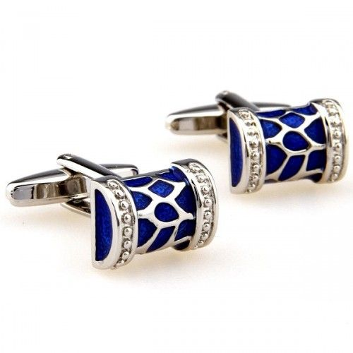 Share this with your friends and receive a 5% copon.Click here to wirte your message. Fashino Silver-Blue Cufflinks