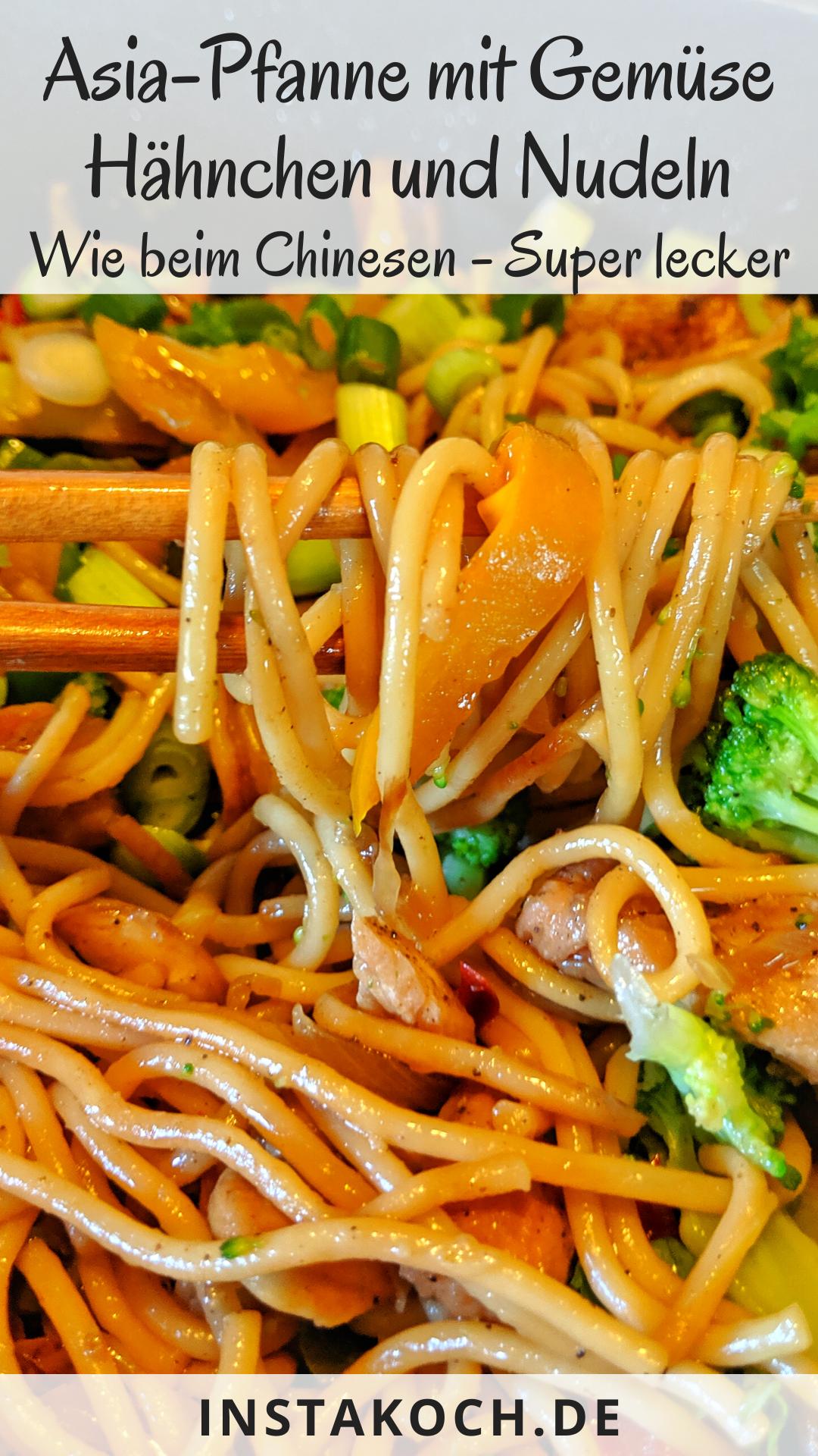 Photo of Leckere Asia-Pfanne mit Nudeln Huhn und Brokkoli – Einfaches Rezept für Zuhause