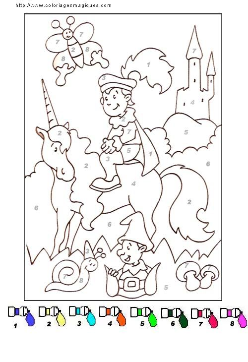 Coloriages Magiques Maternelle Le Chevalier Ritter Prinzessin