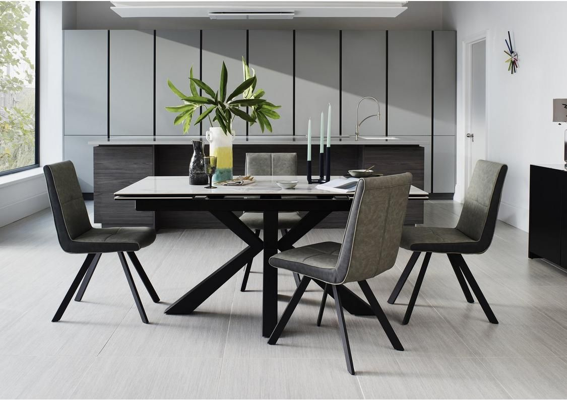 Phoenix Dining Table And 4 Dining Chairs Dining Table