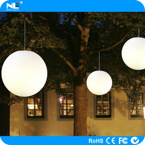 Color Changing Outdoor Led Hanging Light Christmas And Holiday Decorative Illuminated Ball