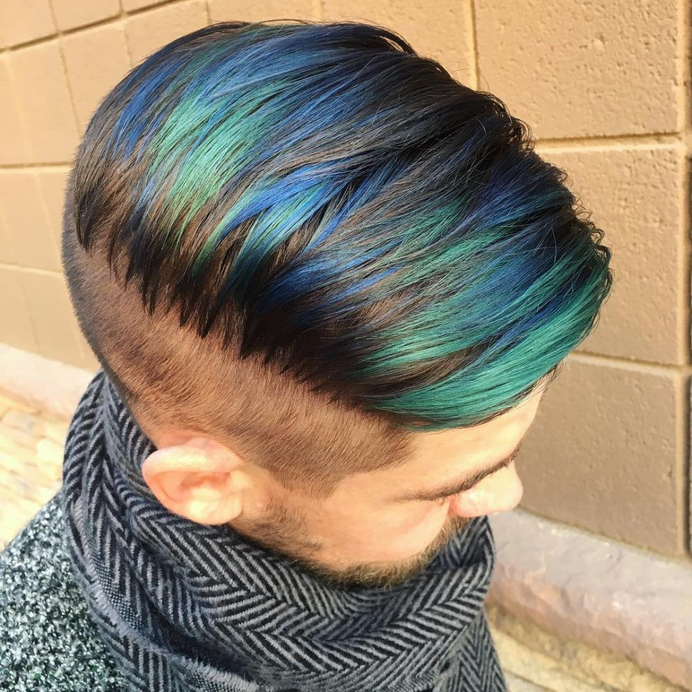 Pin By Gaby Sosa On Adan S Blue Hair Mens Hair Colour Men Hair
