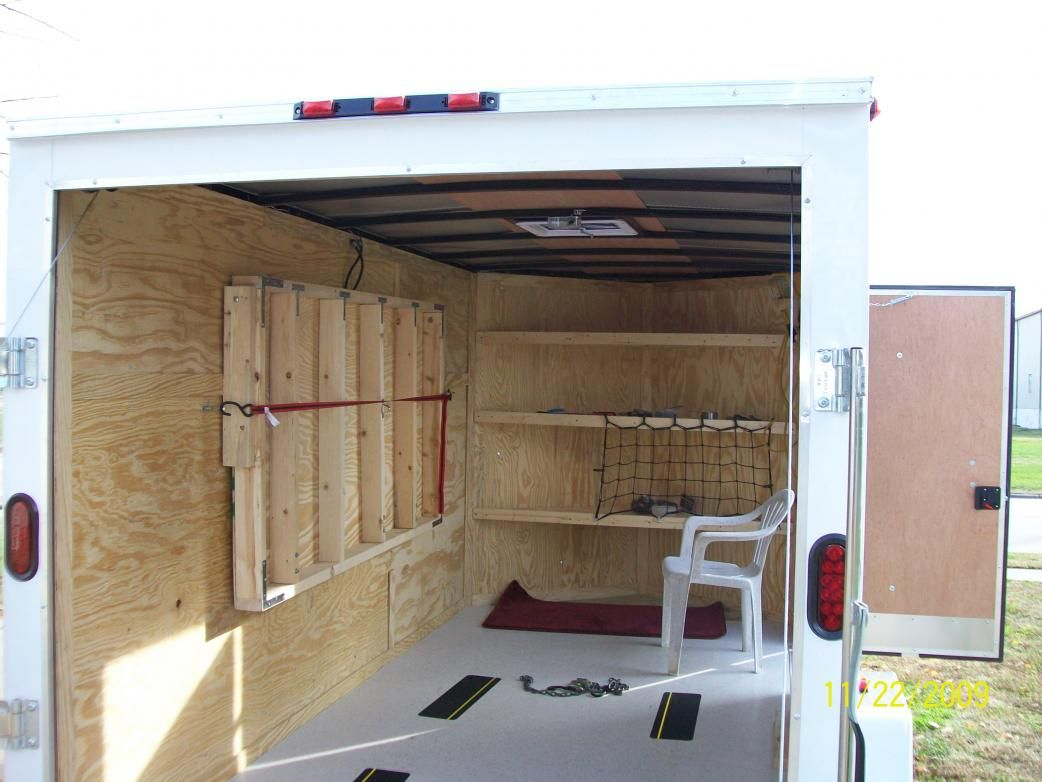 1000 Ideas About Enclosed Bed On Pinterest: Cargo Trailer Camper Conversion - Google Search