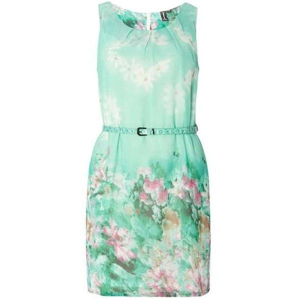 **Izabel London Multi Green Mini Dress ($45) ❤ liked on Polyvore featuring dresses, mini dress, green dress, izabel london, green mini dress and short green dress