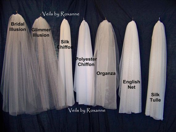 Custom Fingertip Length Chiffon Wedding Veil Made to Order Mantilla Pencil