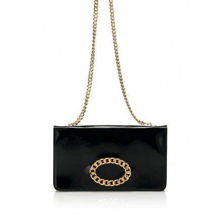 BLACK PATENT LEATHER CLUTCH BAG #trend #black #fashion #lautrechose #FW2013
