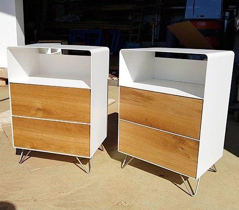 Design Möbel Nachttisch Spezialanfertigung · Holz massiv