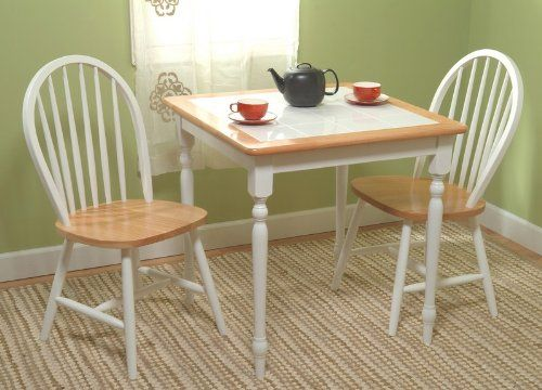 Dining Set Table And Two Chairs Tile Top White Sizes Vary Ideal Home Pinterest Tables Sets