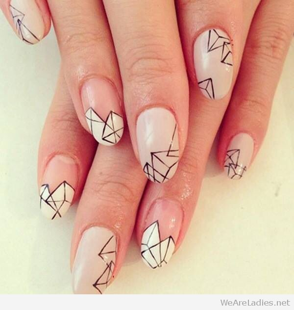 Amazing negative space and geometric nail art - Amazing Negative Space And Geometric Nail Art LET'S NAIL IT