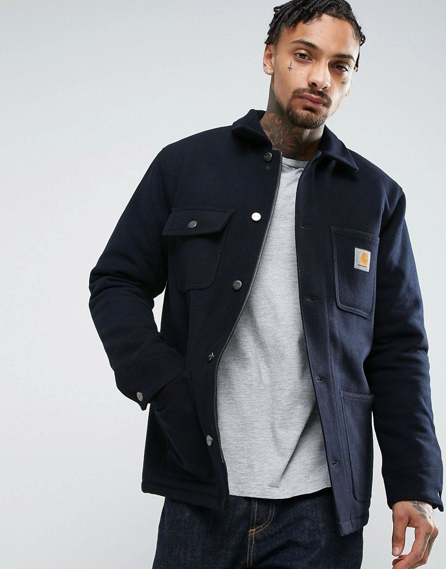 03cbc1716f6 CARHARTT WIP MICHAGAN CHORE JACKET - NAVY. #carhartt #cloth ...