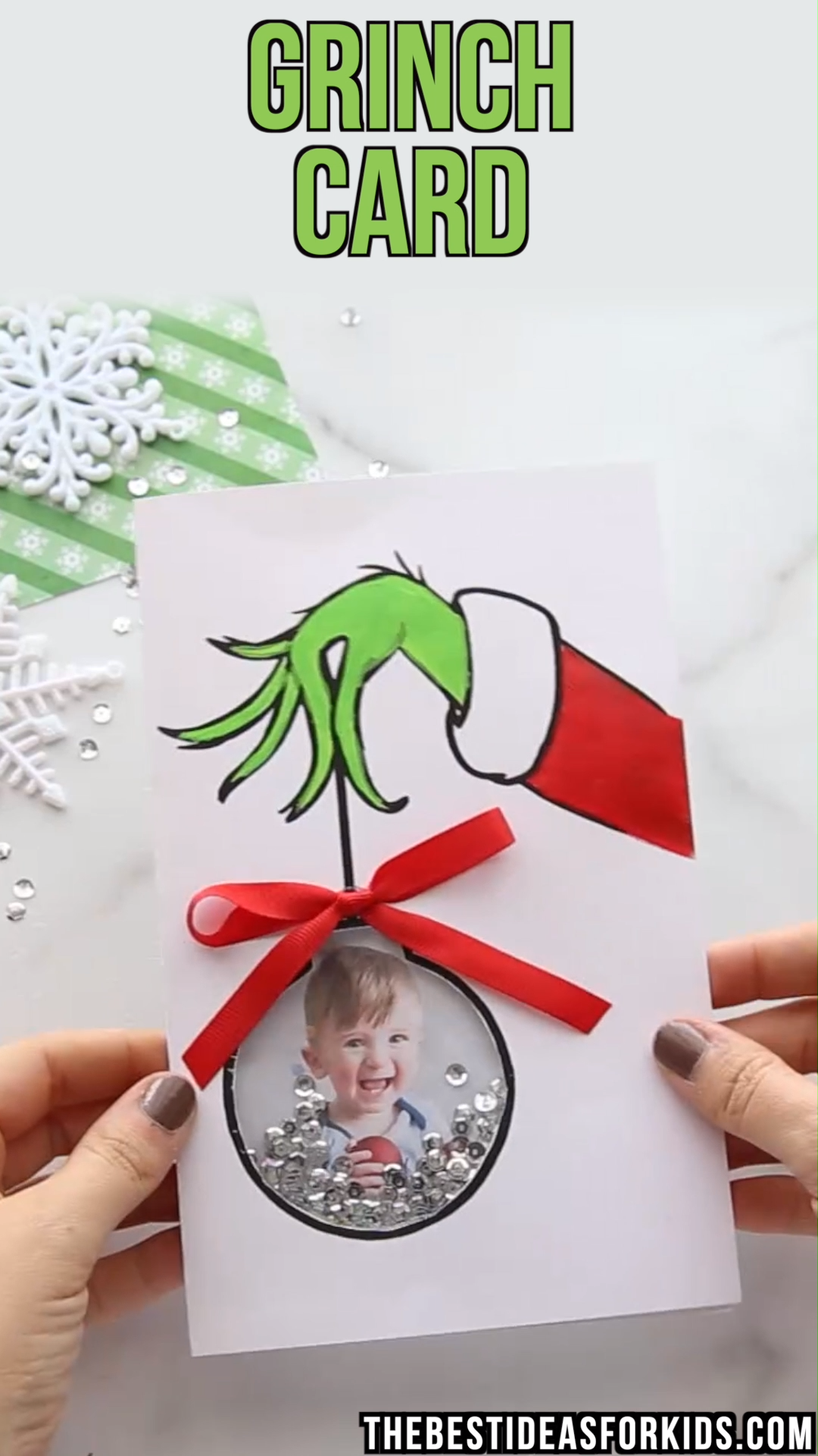 GRINCH CARD #cartedenoelenfant