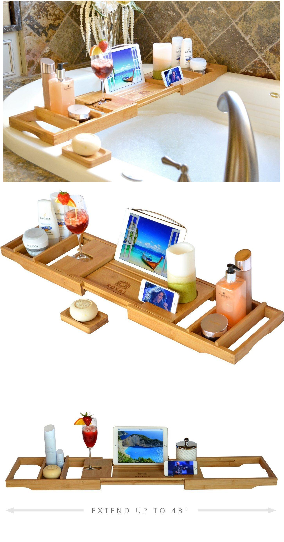 Bath Caddy Bath Shelf Bath Plank Bath Board Bath Tray Book Ipad Wine Birthday t pamper spa t for her