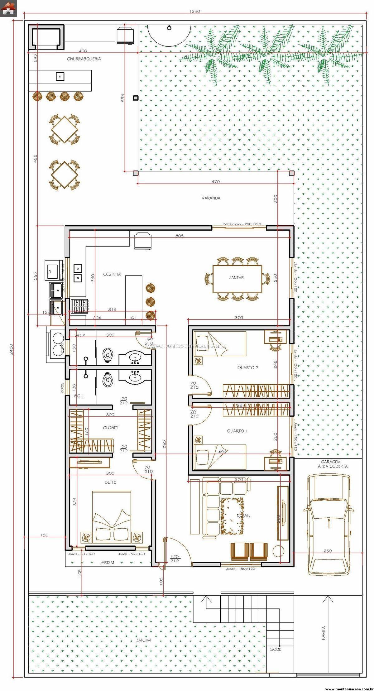 5 plantas de casas at 120m2 plantas de casas plantas e for Plantas para casa