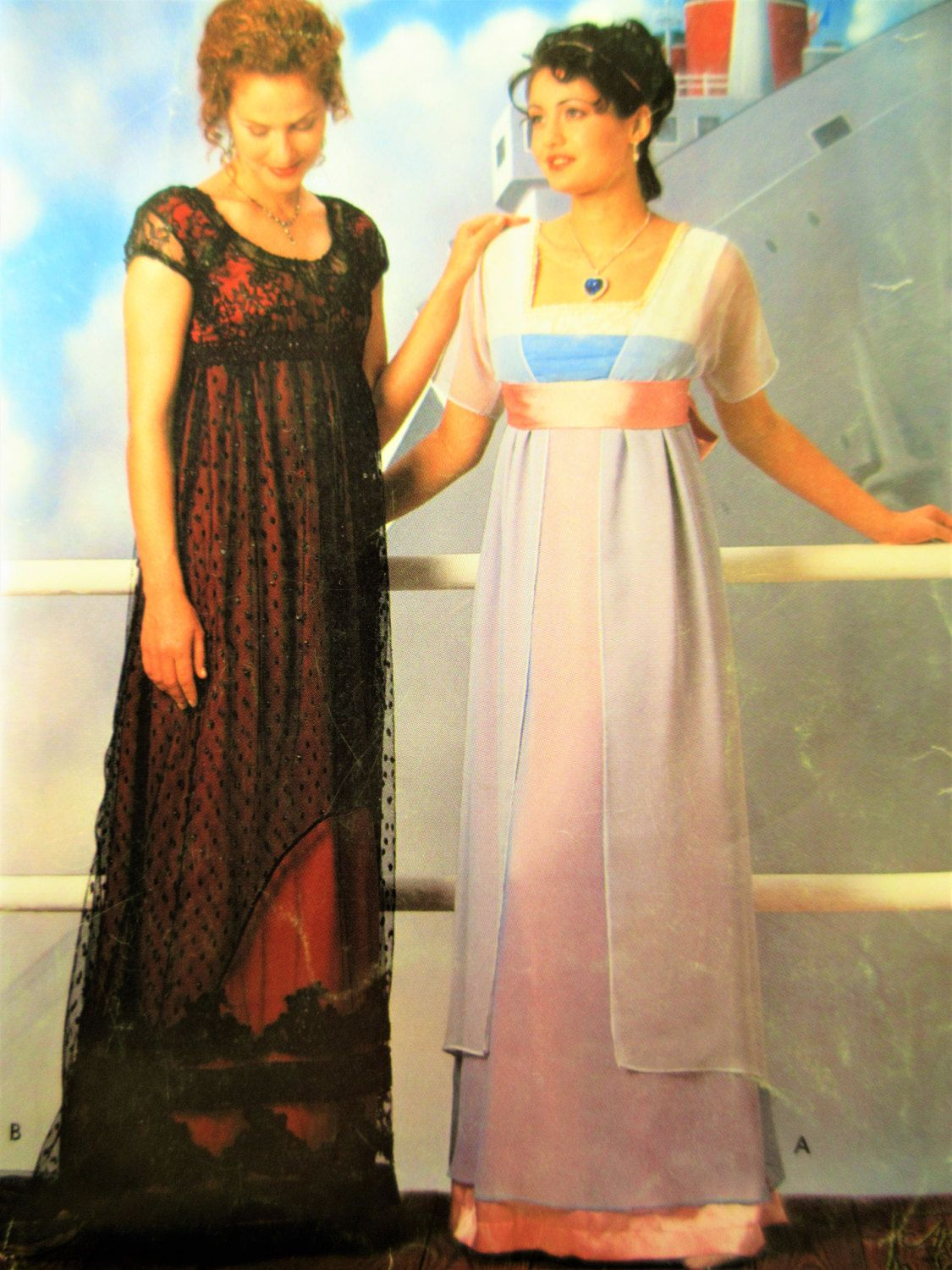 Simplicity 0673 , Simplicity 8399, Sewing Pattern, Titanic Dress ...