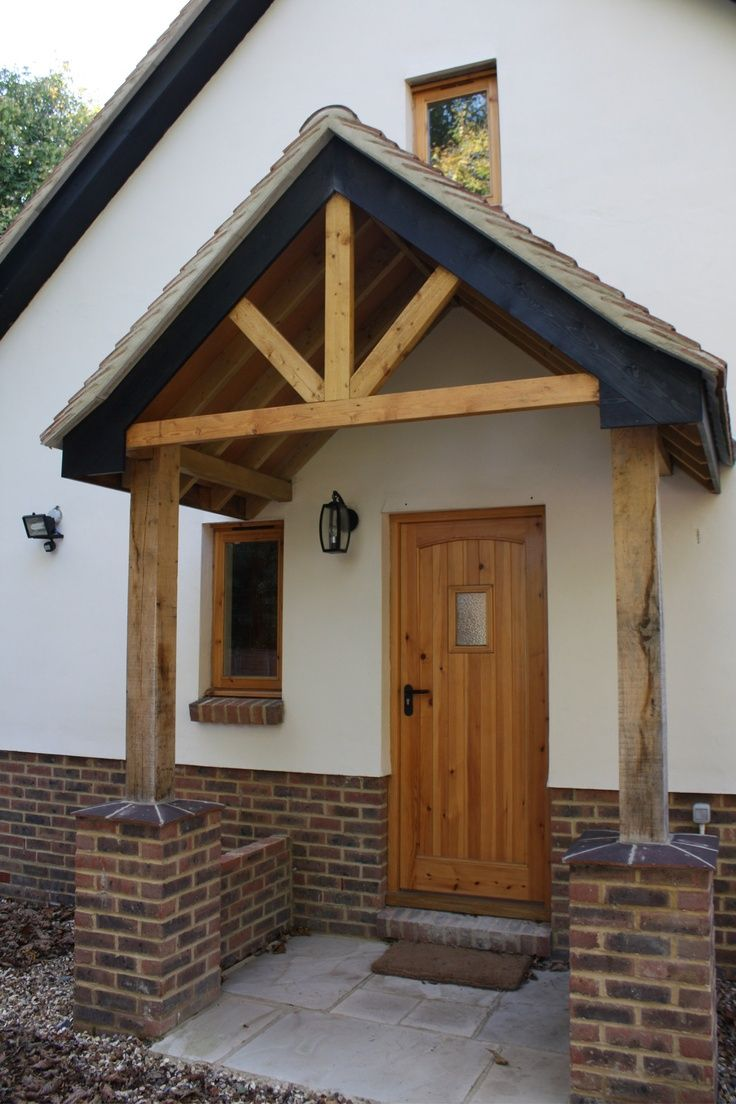 Simple porch design front porch pinterest porch for Porch designs for bungalows uk