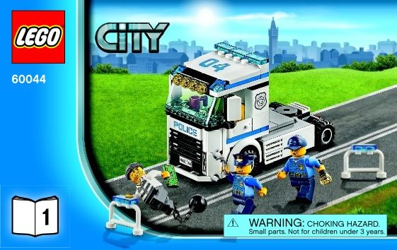 View Lego Instructions For Mobile Police Unit Set Number 60044 To