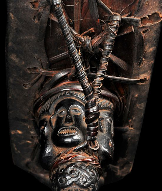 detail of a Tamang shaman's dhyangro (drum) from Nepal