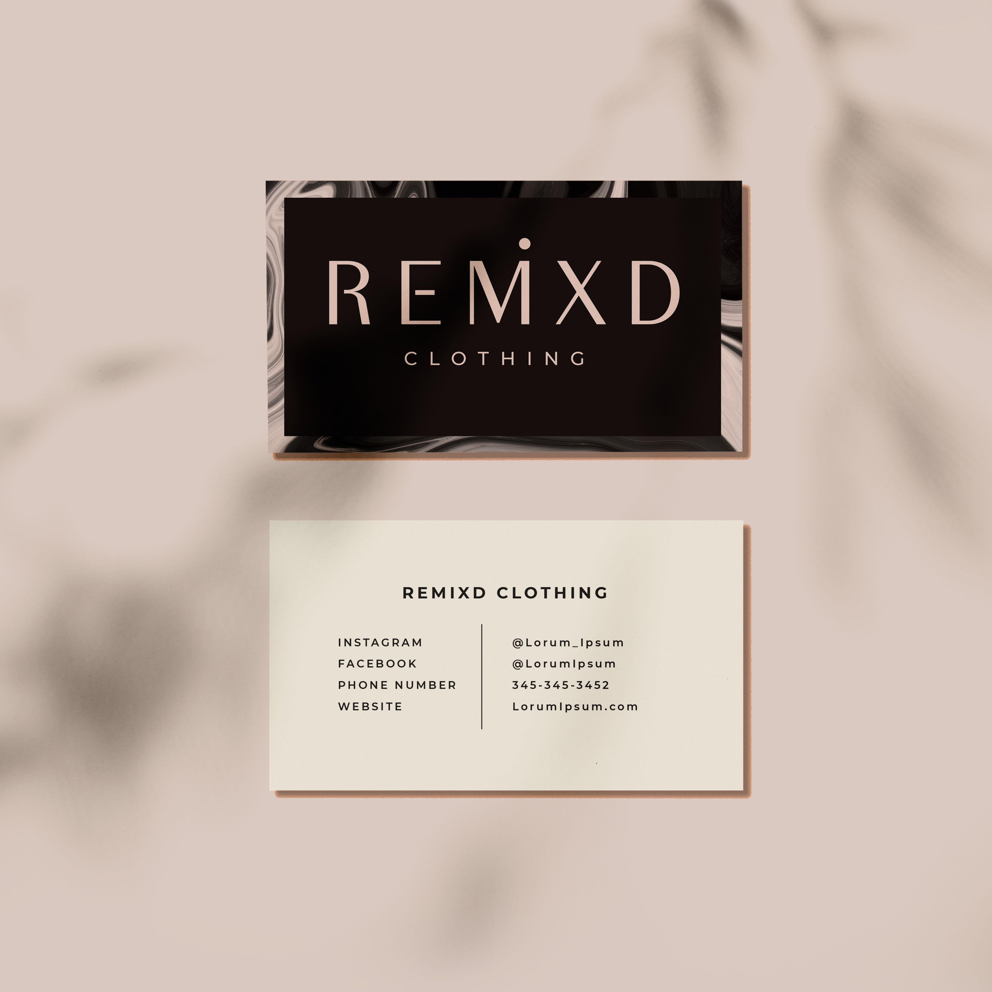 Business Card Design Fashion Brand Business Card Design Business Card Design Fashion Business Card Inspiration