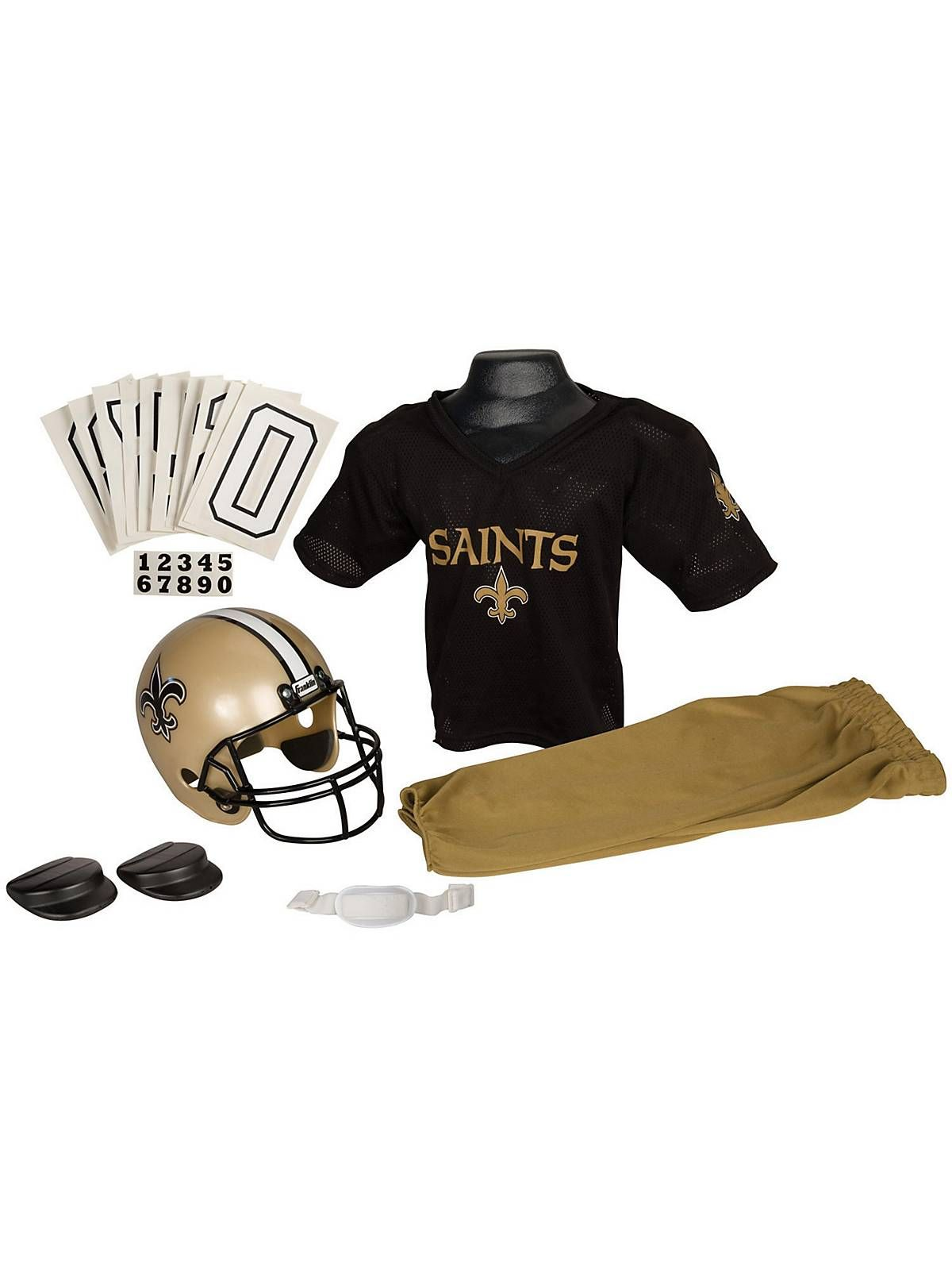 6866aee38 Childs NFL Saints Helmet and Uniform Set! See more football  costume  accessories at CostumeSuperCenter.com