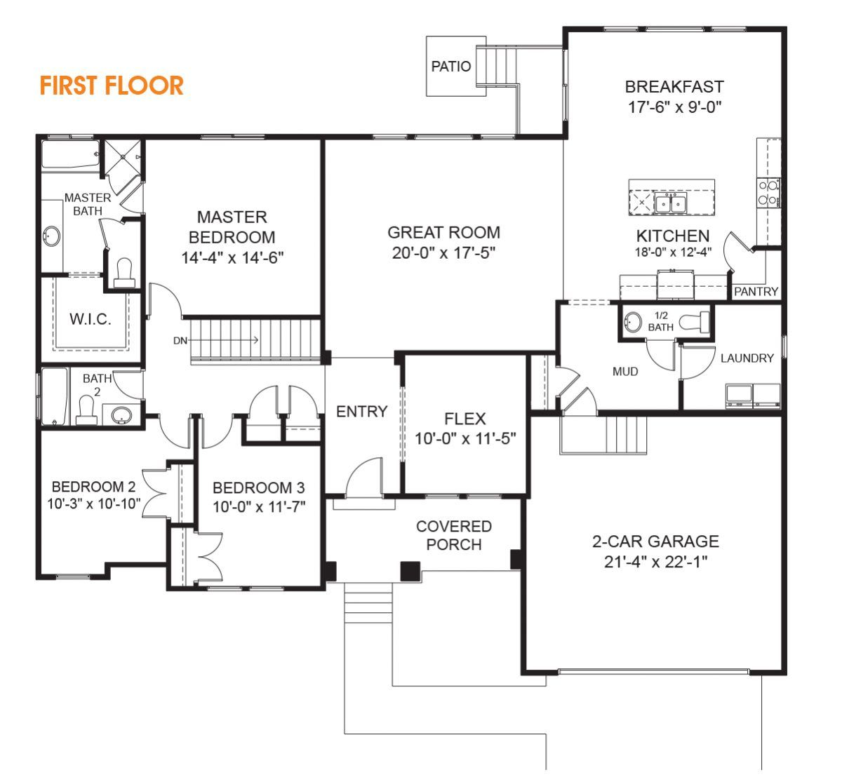 Katrina Rambler House Plan Utah Home Edge Homes Rambler House Plans Rambler House House Plans