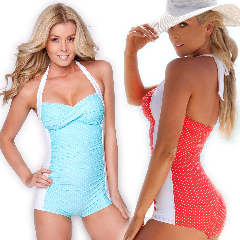 0e12984df3d Marilyn One Piece Boyleg Swimsuit Ladies Swimwear Sheridyn Swim AU 8 10 12  14 | eBay