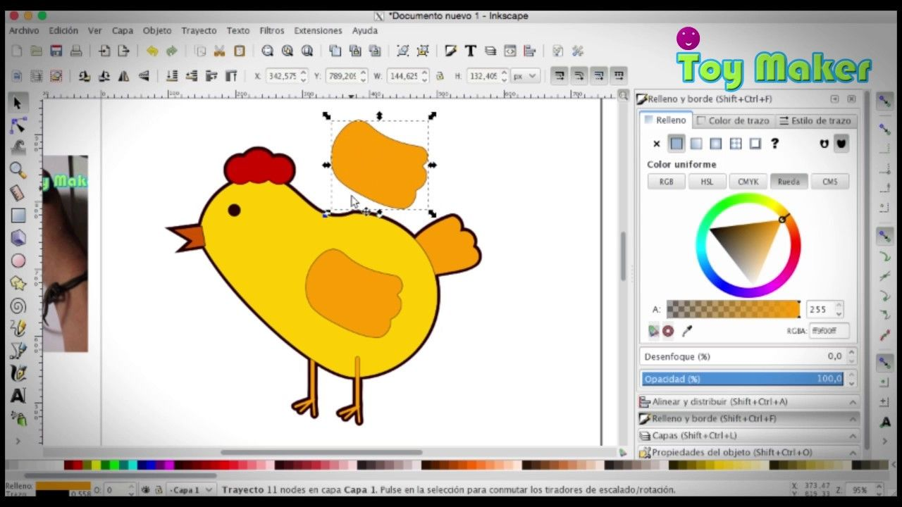 Trazando pollito en la computadora  Dibujos en la computadora