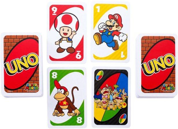 Cartas De Uno De Mario Bros Sector Nintendo Juegos De Cartas Baraja De Cartas Juegos De Mario