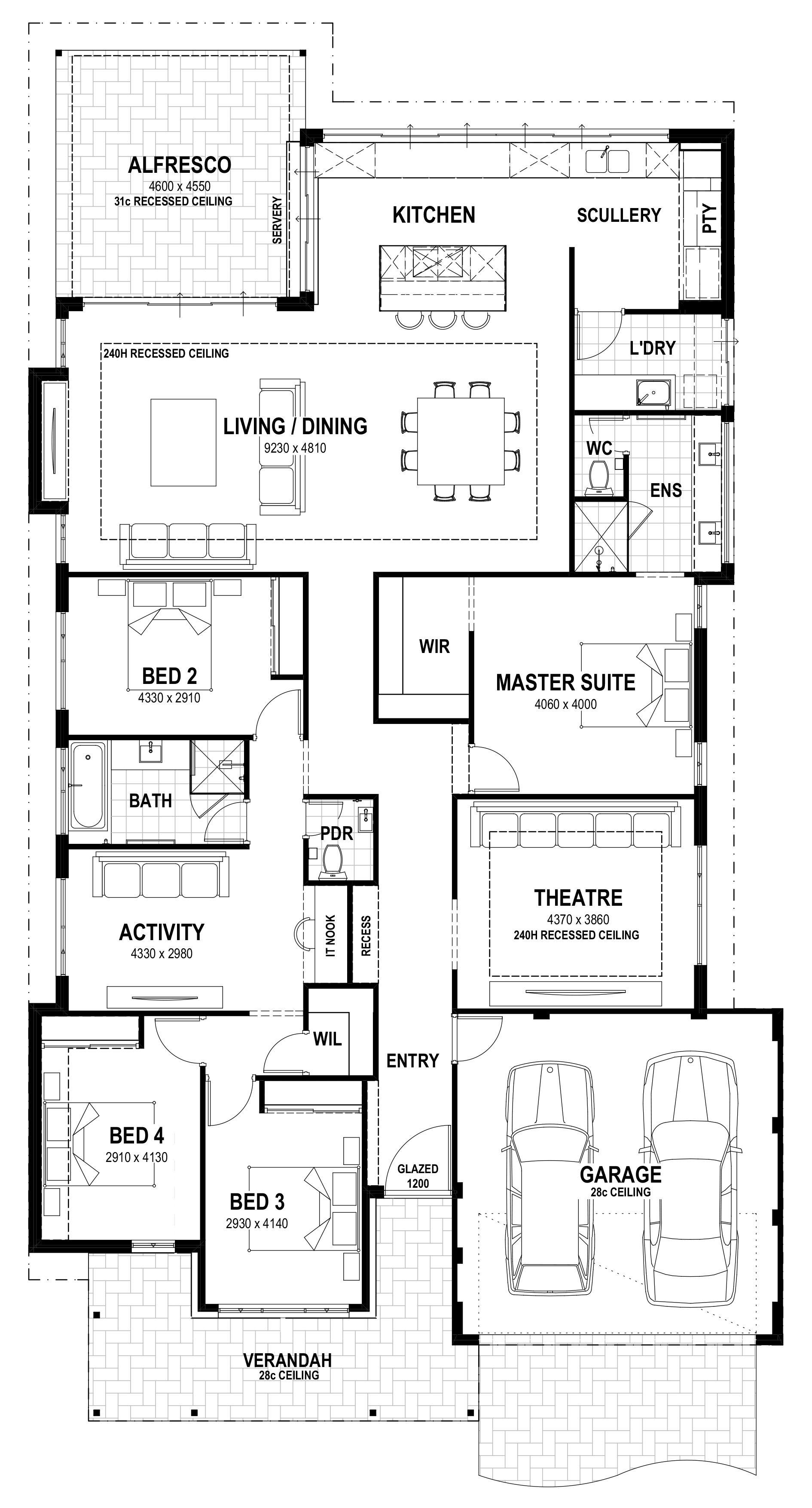 Grove Lot 3 Gooljak Rise Floorplan Single Storey House Plans House Plans Australia House Layout Plans