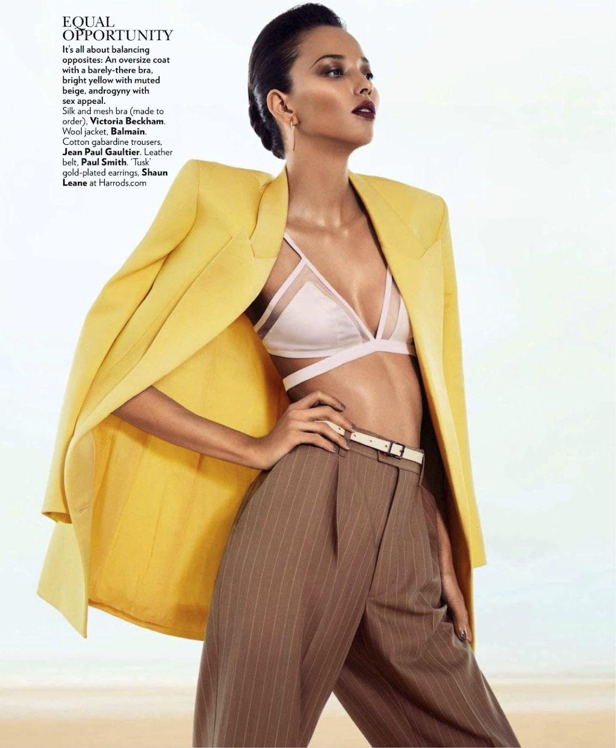 Daniela Alves Rezende photographed by Grant Thomas for Vogue India July 2013.