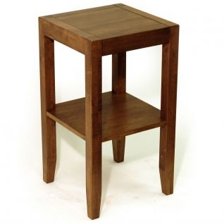 Anywhere Solid Wood End Telephone Table Walnut Effect Oc1101w Size 55h