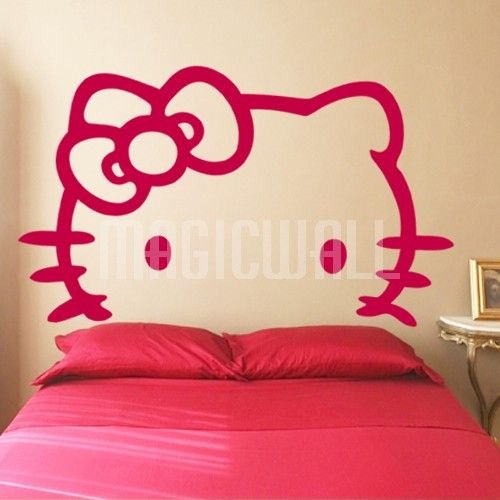 hello kitty head board | home » hello kitty white - headboard - wall