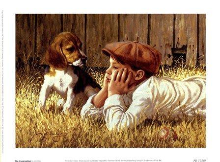 Jim Daly The Conversation Beagle Art Art Art Prints