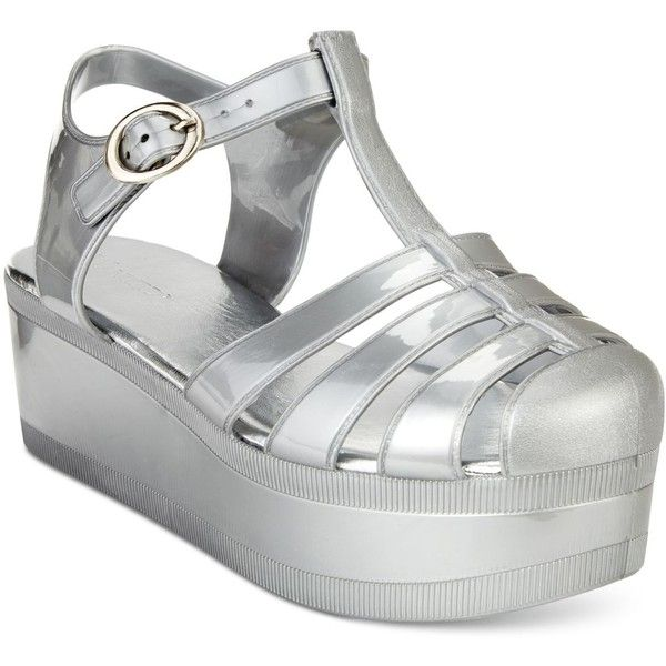 60ba41a893f2 Wanted Jellypop Flatform Jelly Sandals ( 25) ❤ liked on Polyvore featuring  shoes