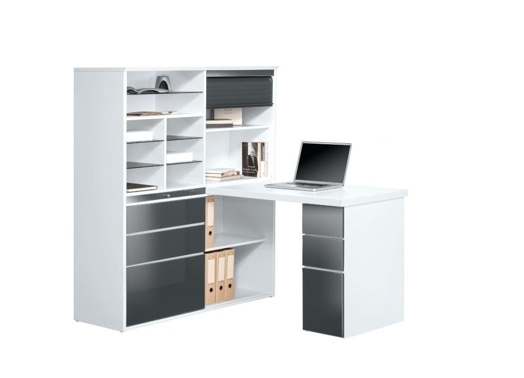 Excellent bureau angle avec rangement meuble