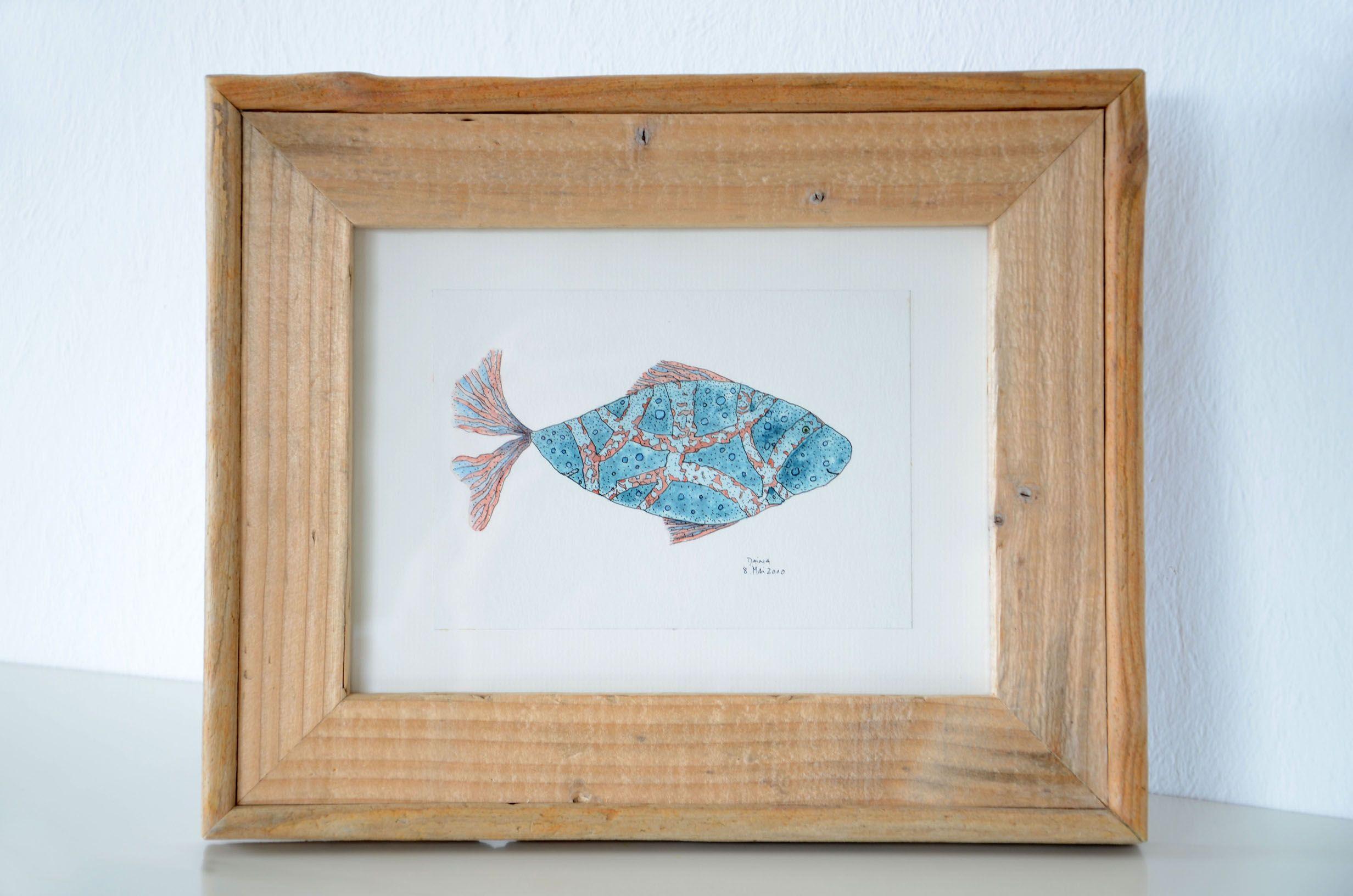 Treibholz-Bilderrahmen DUALITY ~ driftwood picture frame Das Bild im ...