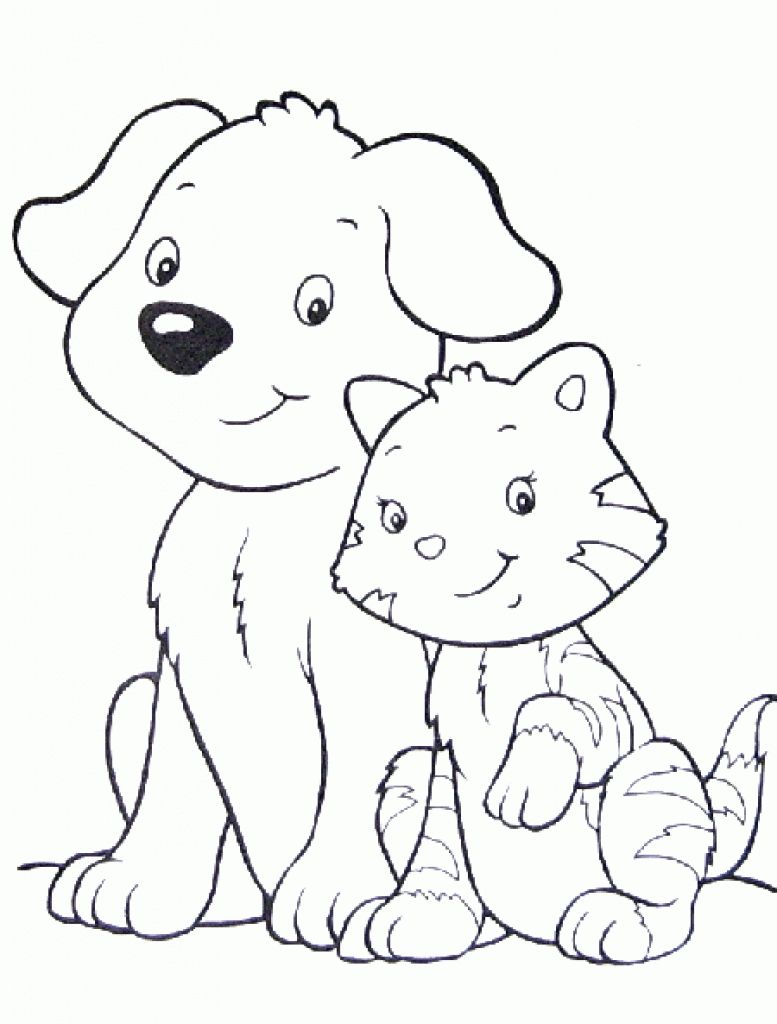 Fresh Ideas Dog And Cat Coloring Pages Printable Coloringsuite Com